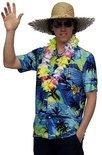 Hawaii shirt blauw met palmbomen 54 (l)