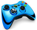 Microsoft Xbox 360 Draadloze Controller Chrome Blauw - Limited Edition