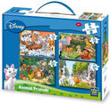Puzzel 4 in 1 Disney Animal