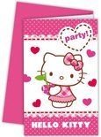 Uitnodigingen Hello Kitty: 6 stuks (81797P)