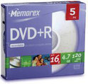 Memorex DVD+R 120min/4,7Gb 5 stuks in slimcase