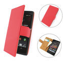 TCC Luxe Hoesje Sony Xperia ZR Book Case Flip Cover D5502 - rood