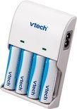 VTech Batterijoplader + 4 Oplaadbare Batterijen