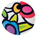 Zak!Designs Wild Flora Saladebord - 23 cm - Assorti - Set van 6 stuks