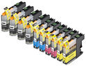 Compatible Brother LC-123, 10 pak InktMaxx cartridges. 4 Zwart, 2 Cyaan, 2 Magenta, 2 Geel.