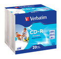 Verbatim DataLifePlus - 20 x CD-R - 700 MB ( 80min ) 52x - ink jet printable surface - slim jewel case