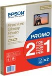 Epson Premium Glossy Photo Paper BOGOF - Glossy photo paper - A4 (210 x 297 mm) - 255 g/m2 - 15 sheet(s) (pack of 2 ) - for Epson MUFC Printer  Expression Home XP-225, 322, 325, 422, 425  Expression Photo XP-950