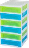 IRIS A4 Ladekast - 4 l per lade - Wit met 2 verschillende kleuren lades