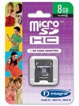 Integral MicroSD-kaart + SD Adapter - 8 GB