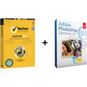 Actie Norton 360 2013 Premier Edition - 3 Gebruikers / Nederlands + Adobe PhotoShop Elements 10