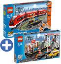 LEGO City Trein bundel: Spoorwegstation 7937 + Passagierstrein 7938
