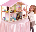 Draaibaar Luxe Poppenhuis In Pastel