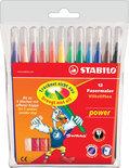 STABILO Power Viltstiften - Etui 12 stuks
