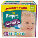 Pampers Active Fit - Luiers Maat 5 - Jumbo Pack Junior Plus 64st