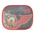 Walt Disney - Mickey Mouse Zonnescherm Zijruit 2 Stuks - Zwart/Rood