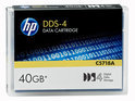 HP Data Cartridge DDS-4 40GB 150m offer40GB capacity at 2:1 data compression. For use with DAT40 and all other DDS-4 drives.