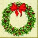 IHR Door Wreath Kerst Servetten - 16.5 x 16.5 cm - 20 stuks