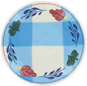 Boerenbont & Bonter Old Dutch Petit Four Bord - Ø 11 cm - Blauwe Ruit