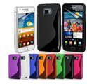 Samsung Galaxy S2 siliconen cover case S-line design TPU hoes - smoke