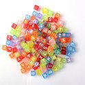 100 Loomfun Letter kralen voor Loom armbanden - A t/m Z Mixed color