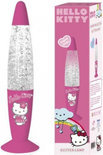 Hello kitty Glitterlamp roze 34cm