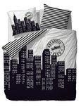 COVERS & CO Dekbedovertrekset  Atlantic City - 200x200/220 cm + 2 slopen 60x70 - Black