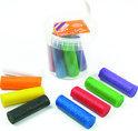 Glitter klei emmer met 8 rol kleur gesorteerd