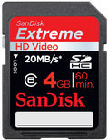 Sandisk Extreme SD kaart 4 GB