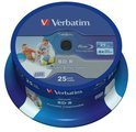 Verbatim, BD-R SL Datalife 25GB 6x Wide Inkjet Printable 25 Pack Spindle