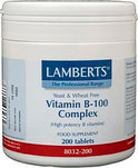 Lamberts Vitamine B100 Complex - 200 Tabletten - Vitaminen