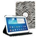 Samsung Galaxy Tab 4 10.1 T530 Tablet draaibare case cover hoes met Zebra desigh zwart / wit