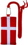 Sox hoes met motief van de vlag van Denemarken