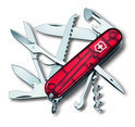 Victorinox Swiss Army Huntsman - Multitool 15 Functies - Transparant Rood