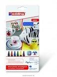 Porselein marker edding 4200-6 basic tinten