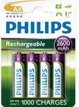 Philips R6B4B260/10 - 4 Oplaadbare batterijen - AA 4-blister