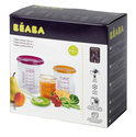 Baba - Set 6 Bewaarpotjes (2 baby, 2 maxi, 2 maxi-plus) - Paars