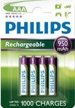 Philips R03B4A95/10 - AAA 950 mAh Oplaadbare Batterijen - 4 stuks