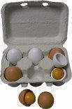 Houten Eierset