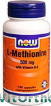Now L-Methionine 500 mg Capsules 100 st