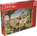Jumbo Puppies Relaxing - Puzzel - 2000 stukjes
