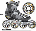 Inline Skates 'Hurricane' Maat 36