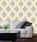 Dutch Wallcoverings Vliesbehang - Barokmotief - Crème