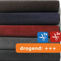Schoonloopmat / Polyplush / 120 cm x 240 cm / rood-zwart