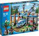 LEGO City bundel: Bospolitiebureau 4440 + Gevangenentransport 7286 + Politieachtervolging 4437