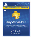 Sony PlayStation Plus Abonnement 365 Dagen NL - PS4 + PS3 + PS Vita + PSN