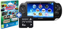 Sony PlayStation Vita Handheld Console WiFi + Sports & Racing Mega Pack Download Voucher + 8GB Memory Card - Zwart PS Vita Bundel