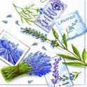 IHR Lavendel Servetten - 16.5 x 16.5 cm - Wit