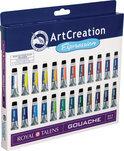 ArtCreation plakkaatverfset  met 24 tubes 12ml