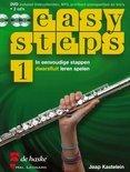 Easy Steps Deel 1 voor Dwarsfluit (Boek met 2 Cd's en 1 DVD) (DVD inclusief instructievideo, MP3, printbare pianopartijen en trio's)