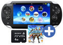 Sony Playstation Vita Wifi + PS All Star Battle Royal Voucher + 4GB Memory Card Zwart